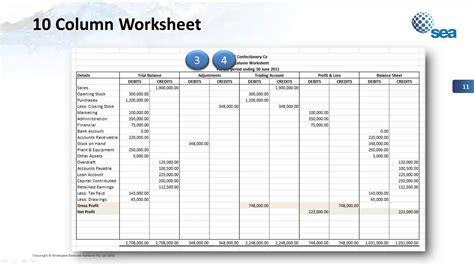 column worksheet template
