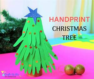 Handprint, Christmas, Tree, Craft, For, Kids