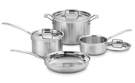 cuisinart multiclad pro stainless steel cookware set  piece cutlery