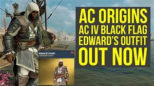 Assassinu0026#39;s Creed Origins Outfits NEW AC IV Black Flag Outfit OUT NOW (AC origins Outfits) - YouTube