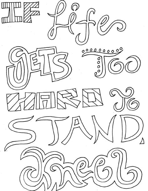 inspirational quotes coloring pages  adults http