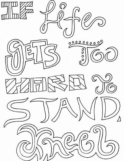 Coloring Pages Printable Quotes Adult Sheets Colouring