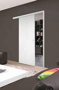 Porte Coulissante D Intérieur : porte coulissante en applique miro ch ne blanc reivilo ~ Melissatoandfro.com Idées de Décoration