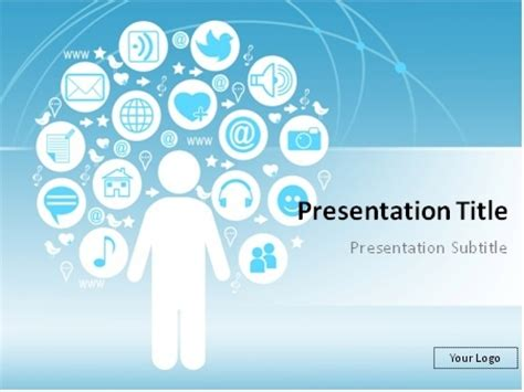 Presenter Media Powerpoint Templates Free by Powerpoint Templates Free Social Media Jdap
