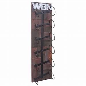 Wandregal Holz Metall : weinregal hwc a90 wandregal flaschenhalter holz metall ~ Indierocktalk.com Haus und Dekorationen