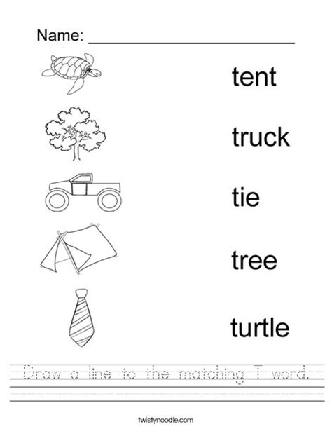 letter p word search worksheet twisty noodle draw a line to the matching t word worksheet twisty noodle 70107