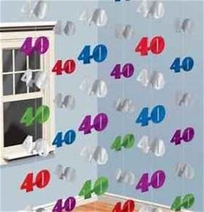 Deko 40 Geburtstag Selber Machen : 40 geburtstag geschenke deko dekoartikel und geschenkartikel zum 40 geburtstag 2 ~ Frokenaadalensverden.com Haus und Dekorationen