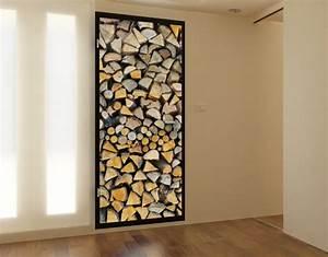 Wooden door wall decor : Photo wall mural door firewood wallpaper art