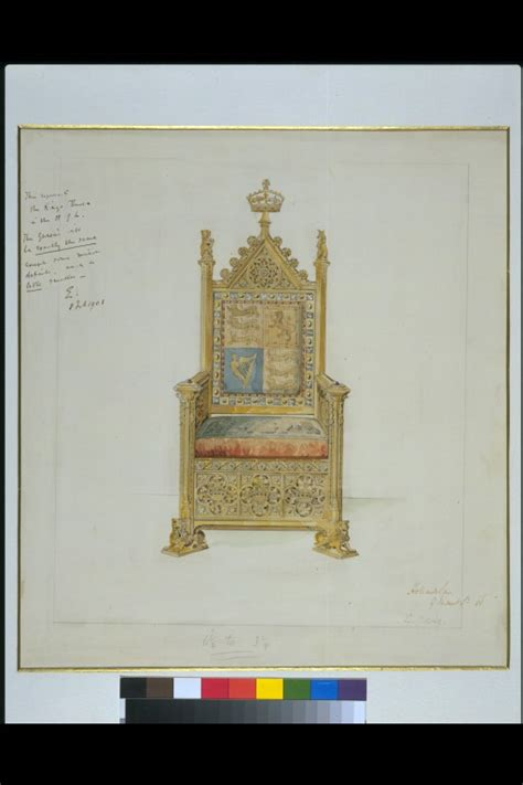 record drawing   royal throne   house  lords holland sons va search