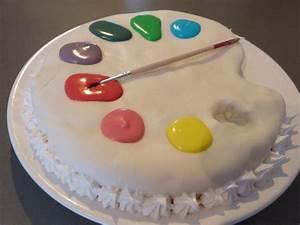 gateau palette peinture 8 pate a sucre pinterest With chambre bébé design avec fleurs en pate à sucre
