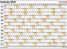 Kalender 2018 zum Ausdrucken als PDF 16 Vorlagen, kostenlos