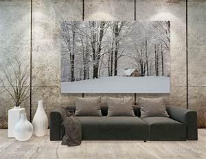 Papier Peint Arbre Noir Et Blanc : papier peint poster neige arbres mcp1199fr ~ Nature-et-papiers.com Idées de Décoration