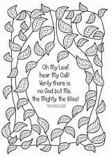 Coloring Wisdom Death Leaves Baha Printable sketch template