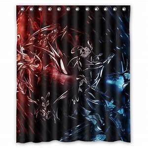 Rideau Rouge Et Noir : noir et rouge rideau de douche promotion achetez des noir et rouge rideau de douche ~ Teatrodelosmanantiales.com Idées de Décoration