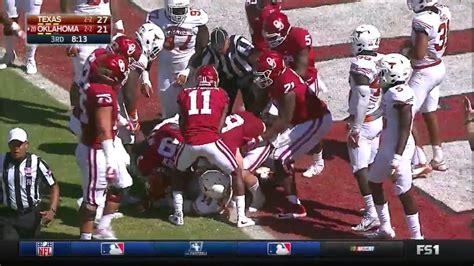 oklahoma  texas  big  football highlights youtube