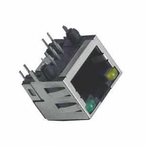 China Connector Registered Jack Dip Pcb Shield Led Rj45