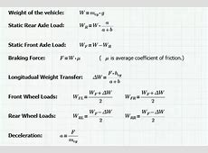 What can be the maximum deceleration during braking a car