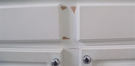 Laminate Cupboards Peeling by How To Repair And Paint Plastic Coated Melamine Cabinets