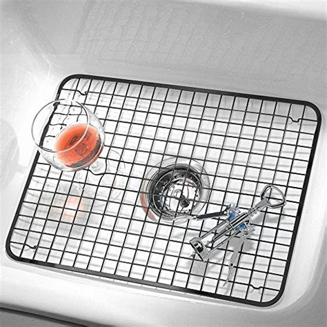 sink protector mat black interdesign kitchen sink protector grid mat large