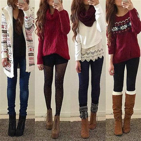 9 cute winter Christmas outfits for teens - myschooloutfits.com