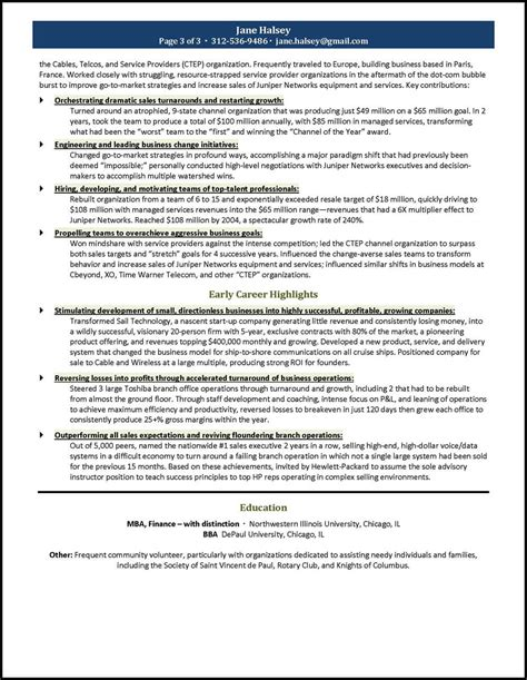 general manager resume exle for a ceo gm candidate