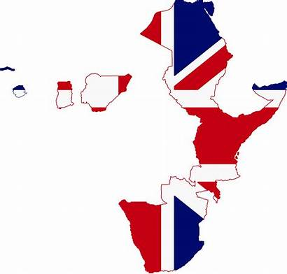 Flag British Africa Map Empire Egypt Colonial