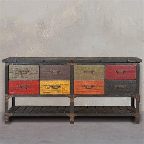 commode 224 tiroir design et tendance style industriel meuble et d 233 coration marseille