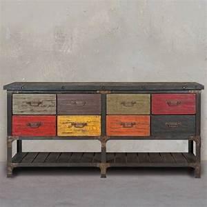 Commode Style Industriel : commode tiroir design et tendance style industriel meuble et d coration marseille ~ Teatrodelosmanantiales.com Idées de Décoration