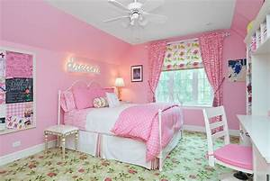 Modern pink girls bedroom design ideas