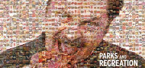 ron swanson meat mosaic wallpaper