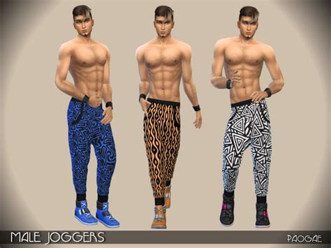 Male Joggers By Paogae At Tsr » Sims 4 Updates