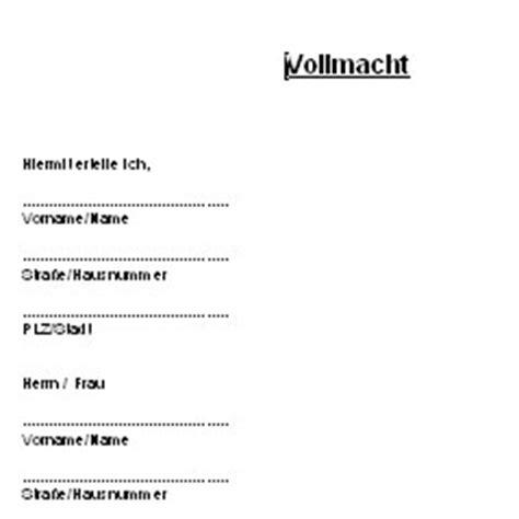 vollmacht deutsche anwaltshotline