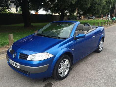 renault megane 2005 renault megane convertible 1 9 diesel 2005 blue in