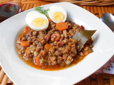 Receptes de cuina: Llenties amb pernil