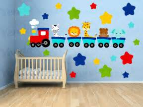 Wall Stickers For Kids Bedrooms by Wall Decals For Kids Bedroom Animal Train Wall Decal