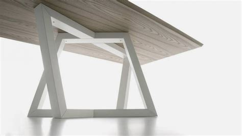 modern dining table legs modern dining table with trapezoidal legs dedalo home