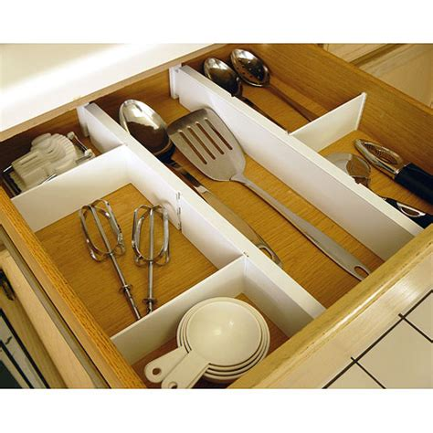 kitchen drawer dividers expandable and adjustable drawer dividers kit in drawer