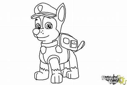 Paw Patrol Chase Draw Coloring Step Drawing