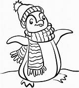 Coloring Winter Pages Penguin Clipartmag sketch template