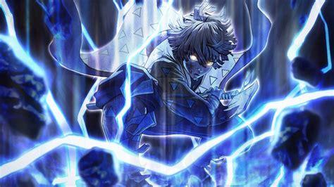 Steam workshop demon slayer zenitsu first form of thunder. Demon Slayer Zenitsu Agatsuma Around Blue Lightning With Black Backgorund HD Anime Wallpaper ...