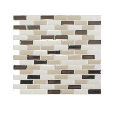smart tiles 10 20 in x 9 10 in mosaic peel and stick decorative wall tile backsplash in murano