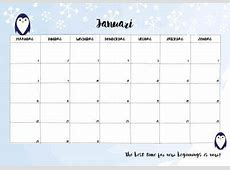 Free Printable kalender voor 2018 Hip & Hot blogazine