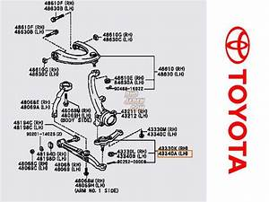 Toyota Oem Front Left Side Lower Ball Joint Assembly