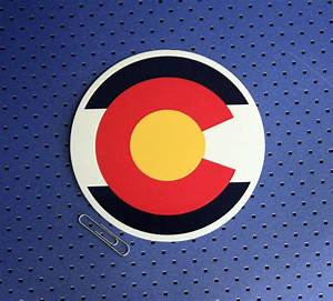 colorado flag circle bumper sticker custom sticker makers With circle sticker maker