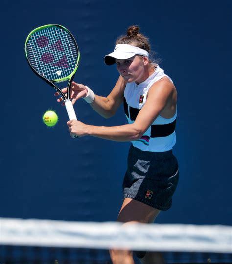 Marketa vondrousova vs aliaksandra sasnovich in round 2. Marketa Vondrousova - Miami Open Tennis Tournament 03/22 ...