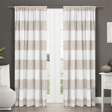 1000 ideas about horizontal striped curtains on