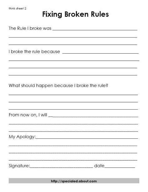 4 year old well child exam form 3 think sheets for students who break the rules