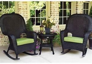 Black rattan garden furniture wicker patio furniture for Black wicker furniture outdoor