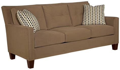 Contemporary Sofa Pillows by Broyhill Furniture Jevin Contemporary Sofa With Tufted