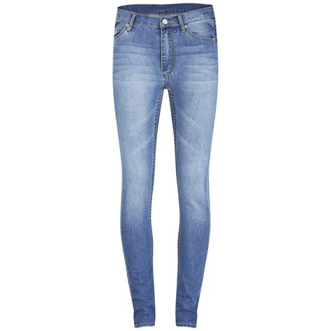 cheap monday womens  skin high rise skinny jeans